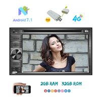 Wholesale Car Dongle - 4G Dongle+Double din Car Stereo Android 7.1 GPS Navigation Car DVD Player Octa Core 2GB RAM+32GB ROM Car Autoradio AM FM Radio