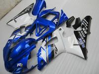 Wholesale 1999 yamaha r1 blue fairing kit resale online - 7gifts Fairing kit forYAMAHA YZF R1 white blue black fairings set YZF R1 SA13