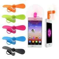 Wholesale wholesale mobile i phone - Cute Portable Phone Fan Cool Micro USB Fan Mobile USB Gadget Fans Tester For i phone Android DDA335