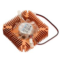 Wholesale vga cooler fans online - 55mm Cooler Cooling Fan for CPU VGA Video Card Bronze Mini Professional E2shopping XXM
