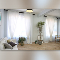 Wholesale exterior window decor for sale - Group buy Minimalism Ventilation Window Screening Modern Style Pure Color White Yarn Linen Sheer Curtains Home Decor High Grade cf2 Ww