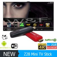 Wholesale android 16gb pc tv resale online - 2018 Hot Z28 MINI PC Ulewell Android TV Box Quad Core RK3328 GB GB G WiFi Bluetooth Media Player Frire sticker