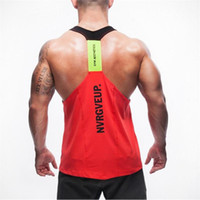 débardeurs griffés hommes achat en gros de-Marque d'été Vêtements pour hommes Débardeurs Stringer Bodybuilding Fitness Sweat Absorber Librement Tanks hommes Respirez Vêtements Singlets