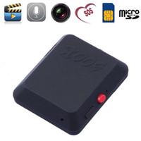 ingrosso gps tracker gsm due vie-Wholesale-X009 Mini videocamera Registratore video SOS GPS DV Cam 850/900/1800 / 1900MHz Scheda SIM GSM bidirezionale Mini videocamere GPS Tracker