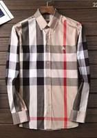 Wholesale american fashion dresses online - 2018 American business brand self cultivation plaid shirt fashion designer brand long sleeved cotton casual shirt striped co dress shirt