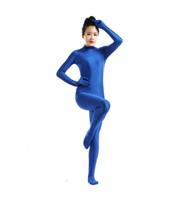 ingrosso vestito completo del bodysuit-(SWH018) Royal Blue Spandex Full Body Skin Tuta Tuta Zentai Suit Tuta Costume per Donna / Uomo Unitard Lycra Dancewear