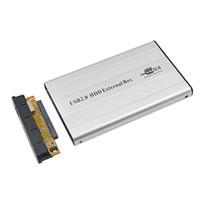 ide ssd 2,5 toptan satış-TISHRIC Harici USB 2.0 IDE Konteyner Sabit Disk Sürücüsü HDD Kutusu Muhafaza Adaptörü Için 2.5 '500 GB 1 TB SSD DVD Optibay