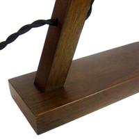 ingrosso caffè principale-7 parole E27 connettore retrò nostalgico personalità in legno massello lampada in legno lampada da tavolo creativo cafe scrivania