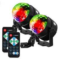 Party Lights Disco Ball Strobe Light Disco Light 7 Colors Sound Activated Stage Light with Remote Control for Festival Bar Club Party 2pcs