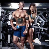 gewichtsverlust körper gürtel großhandel-Wiederaufladbare EMS Wireless Muskelstimulator Abnehmen Maschine Smart Fitness Bauchmuskeltraining Gerät Gewichtsverlust Körper Abnehmen Gürtel