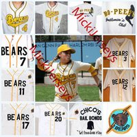 Wholesale bears white - Mens Custom The Bad News BEARS Jerseys stitched #3 Kelly Leak #12 Tanner Boyle #4 #7 #13 #17 #20 The Bad News BEARS Movie Baseball Jersey S-