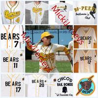 Wholesale movie online - Mens Custom The Bad News BEARS Jerseys stitched Kelly Leak Tanner Boyle The Bad News BEARS Movie Baseball Jersey S
