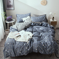 Wholesale gray queen bedding sets online - MENGZIQIAN New simple plaid bedding set geometric pattern bed lining duvet cover sheets pillowcase bed comporters set