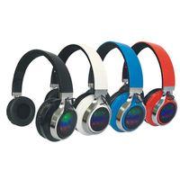 iphone bluetooth çalar toptan satış-K8 Spor Stereo Bluetooth Kablosuz Kulaklık yanıp sönen led bluetooth 4.0 handfree mic ile yüksek sadakat müzik çalar oyun kulakl ...