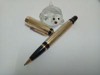 entrega de materiais venda por atacado-Luxo Gold Roller Pen com material de Metal melhor presente escritório material escolar e a cor do diamante é a entrega aleatória