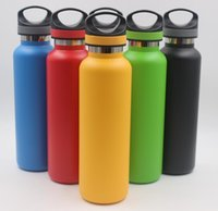 Wholesale insulated sports bottles - 600ml 20oz Water Bottle Stainless Steel Vacuum Insulated Bottle Double Walled Keeps Drinks Cold Travel Coffe Sport Bottle