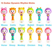 Wholesale baby rattles hammer for sale - Group buy Baby Shaker Sand Hammer Toy Dynamic Rhythm Stick Baby Rattles Kids Musical Party Favor Musical Instrument Toys