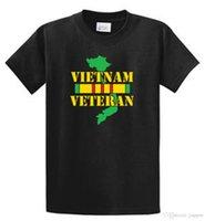 büyük liman toptan satış-Vietnam Veteran Port Co Baskılı Tee Gömlek Erkek Düzenli ve Büyük ve Uzun Boylu Boyutları