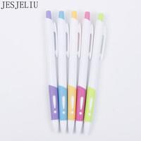 Wholesale stationery for kids free shipping for sale - Group buy 1 Pc Plastic Ballpoint Pen Pressed White Rod Ballpoint Pen For Kids Writing Gift Korean Stationery