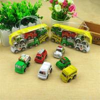 estradas plásticas para carros de brinquedo venda por atacado-6 Piece Define Pull de crianças de volta dos desenhos animados Car Modelo Toy Inertial Pull Voltar Toy Moda Bebê Brinquedos V 001