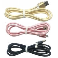 Wholesale chinese woven wire online - Universal Aluminium Braided Micro USB Type C Cable M M M Charging Sync Data Durable Nylon Woven Cord Wire For Samsung S8 HTC Smartphone