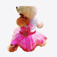jolie robe de chien rouge achat en gros de-Jolies lèvres jupe pour les petits chiots fille Tutu Party Cute robe rose rouge pas cher pour les petits chiens moyens Chihuahua Teddy Large