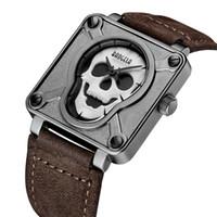 Wholesale pirates watches for sale - Baogela Skull Pirate Quartz Men Watches Luminous hands Waterproof Clock Male Sports Skeleton Watch El esqueleto Relogio Masculino