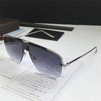 hollow box frames 2018 - New fashion designer fashion sunglasses 0724 square hollow half frame popular style simple quality men outdoor eyewear with original box