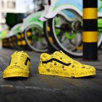 gelber gingham großhandel-Neue Mode 2018 Luxus Casual Canvas Schuhe Klassische Weiß Gelb Marke Frauen und Herren Turnschuhe Skateboarding Schuhe Neue Heiße