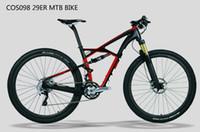 kohlefaser-rahmen mountainbikes großhandel-COS098 beliebte billige china lieferant kohlefaser suspension MTB mountainbike fahrräder zubehör teile rahmen 29er kostenloser versand