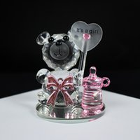 Wholesale baby crystal souvenir for sale - Group buy 12pcs High Quality Crystal Bear Nipple Baby Shower Souvenirs Christening Party Favors