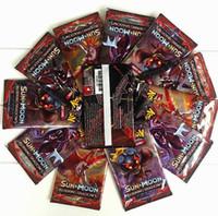 için ticaret kartı oyunları toptan satış-Poket Canavar Oynayan Ticaret Kartları Oyunları Güneş Ay İngilizce Baskısı Anime Cep Canavarlar Kartları Çocuklar Oyuncaklar 324 adet / grup