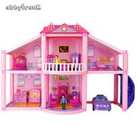 muebles musicales al por mayor-Abbyfrank casa de muñecas en miniatura casa de muñecas bricolaje accesorios juguetes de aprendizaje para niños Casinha De Boneca brinquedos menina
