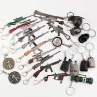 brinquedo modelo de rifle venda por atacado-Jogo FPS Playerunknowns Battlefields Keychain Rifle Ornamentos 98KAWM PUBG Pingente De Metal Jóias Presente Da Criança Brinquedo Modelo de Arma
