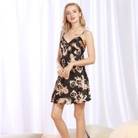98a98e6f5a embroidered silk pajamas ms. summer sexy straps nightdress cool casual