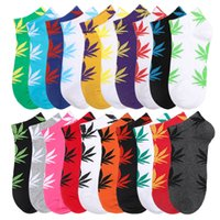 Wholesale pairs christmas socks resale online - Low Cut Ankle Socks Women Mens Sock with Print of Leaves Unisex Free Size Cotton Skateboard Boat Ship Socks Christmas Gift pair pieces