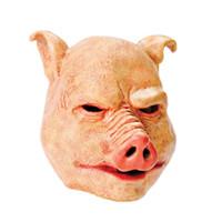 masque d'horreur visage latex achat en gros de-X-Merry Toy Livraison Gratuite Cochon D'horreur Halloween Latex Masque Complet Masque Robe De Fantaisie Accessoire Frais De Livraison Gratuite
