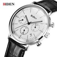 reloj de lujo hombres delgados al por mayor-Hombre Reloj BIDEN Top Brand Luxury Ultra Thin Diseño de Moda Reloj de Cuarzo Hombres Impermeable Deportes Muñeca hombres relogio masculino