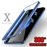 ingrosso protezione dello schermo di stile iphone-Custodia protettiva per display 360 Full Coverage per iPhone X 6/78 8 6/7/8 Plus Fashion Style Anti Cell Phone Cases NUOVO E36