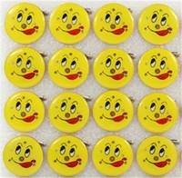insignias de luz de navidad al por mayor-Led Cartoon Light Up Emoji Badge Led broche de la cara de sonrisa para fiesta Bar Halloween regalo de Navidad accesorios H259