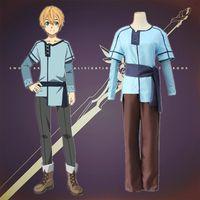 anime kleidung freies verschiffen großhandel-Eugeo Cosplay Kostüme Kindheit japanische Anime Schwert Art Online Alicization Kleidung Halloween Kostüme Spot Versorgung kostenloser Versand