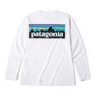 weiße hemden großhandel-Herbst Weiß Mode Baumwolle Männer T Shirts Langarm Brief Skateboard Hip Hop Streetwear T-shirts