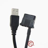 cabo de alimentação venda por atacado-Atacado- IDE Molex para USB A Male Converter 5V Cabo de Alimentação para Laptop Router Cooling Fan