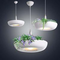 ingrosso vasi da fiore moderni-Arte del ferro Vaso da fiori in vaso di luce moderna con paralume per vasi da fiori o succulente
