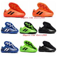 tacos negros messi al por mayor-2018 botines de fútbol para hombre Nemeziz Messi Tango 18.3 TF ic zapatos de fútbol para interiores Tango 18 botas de fútbol scarpe calcio chuteiras negro barato