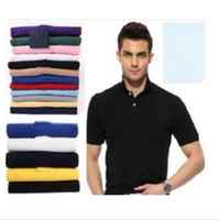 Wholesale organic cotton jersey - S-6XL Brand New style mens polo shirt Top Crocodile Embroidery men short sleeve cotton shirt jerseys polos shirt Hot Sales Men clothing