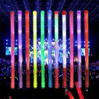 palo de plástico de juguete de luz al por mayor-48 cm Luces led Luces Led Concierto Resplandor Stick Plástico Colorido Luz de Flash Animar Electrónica Varita Mágica Juguetes de Navidad