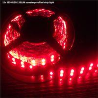 luz brilhante rgb venda por atacado-12v5m RGB LED Light Strip 5050 SMD Diodo RGB Tape ip20 nowaterproof Flexível LED Fita 120L / M super brilhante de alta qualidade 12-15lm