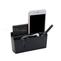 Wholesale Carbon Fiber Storage Boxes - Auto Carbon Fiber Storage Box Multi-use Car Organizer Storage Boxes Auto Bag Container For Cell Phone Holder Car-styling