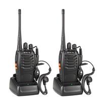 Wholesale Radios Hf - Walkie Talkie 3W UHF 400-470MHz Frequency Portable Radio Set Ham Radio Hf Transceiver Handy Two Way Radio